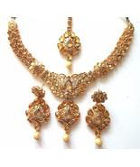 Indian Traditional Bollywood Gold Tone Kundan Bridal Ethnic Fashion Jewe... - $25.24