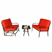 3PC Outdoor Furniture Garden Patio Wrought Iron Conversation Set Chairs ... - $369.98