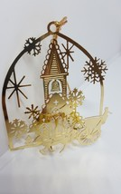 Faux Gold Christmas Horse Carriage Ride Church Christmas Religious Ornam... - $14.92