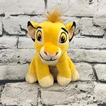 Disney The Lion King Simba Cub Plush Golden Sitting Stuffed Animal Soft Toy - $9.89