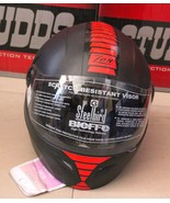 STEEL BIRD BIEFFE  MATT BLACK RED POLY CARBONATE FULL FACE HELMET - $56.94