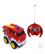 R/C Fire Engine Truck Radio Control Toy Car for kids with Steering Wheel... - $27.99