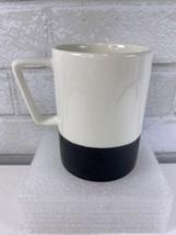 Starbucks Matte Black Glossy White Large Coffee Mug Cup 16 oz 2013 - $18.95