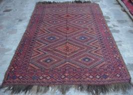 HR, 5' x 7'1 Vintage Afghan Taimani Kilim Tribal Turkish wool Antique Ru... - $269.10