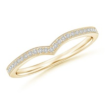Round Cut White CZ Diamond 14K Yellow Gold Plated Engagement Band Curved Ring - $49.99