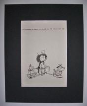 Dog Cartoon Print Norman Thelwell Qualified Vet Bookplate 1964 8x10 Matt... - $23.99