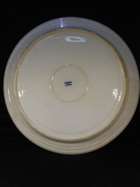 "Vintage Original Japanese Blue Willow China 11"" Divided Blue White Grill Plate"