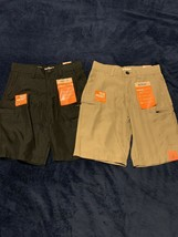 Boys Lot of 2 Urban Pipeline Cargo Shorts Size 8 NEW Black and Khaki - $19.71