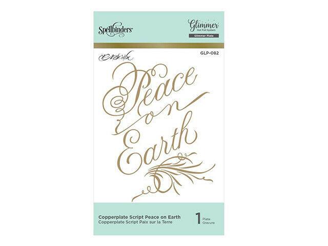 Spellbinders Hot Foil Script Peace on Earth Foil Transfer Letterplate #GLP-082