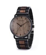 Bobo Bird Men's Steel Wooden Analog Quartz Wrist Watch GT023-1 - $44.00