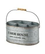 GALVANIZED METAL WINE BUCKET Rustic Country Farmhouse Bottle Holder - $29.84