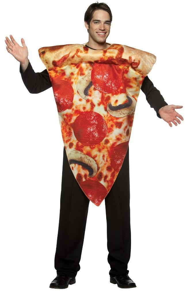 Pizza Adult Costume Pepperoni Get Real Food Halloween Party Unique Cheap GC7105