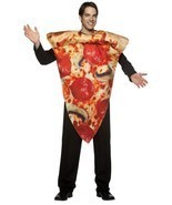 Pizza Adult Costume Pepperoni Get Real Food Halloween Party Unique Cheap... - $1.008,01 MXN