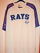 MLB TAMPA BAY RAYS MEN'S LARGE STITCHES WHITE POLYESTER JERSEY NEW - $21.00