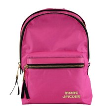 NWT Marc Jacobs Trek Pack Medium Nylon Backpack Vivid Pink M0014031 $195 - $117.81