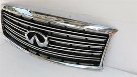 11-14 Infiniti Q70 M35h M37 M56 Front Bumper Upper Grille W/ Emblem W/O Camera image 3
