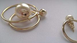 Authentic Christian Dior Mise En Dior Tribal Hoop Pearl Earrings  image 6
