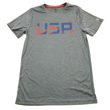 Champion Grey Dry Fit Shirt Size Extra Large Youth USA Tee Lightweight A... - $13.08