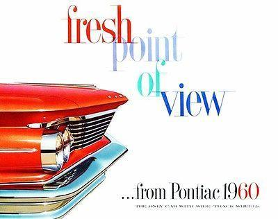 Primary image for 1960 Pontiac - Fresh Point of View - Promotional Advertising Poster