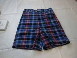 IZOD boys plaid shorts NWT 6R regular size 6 IZOD NEW bright blue Z46503... - $21.37