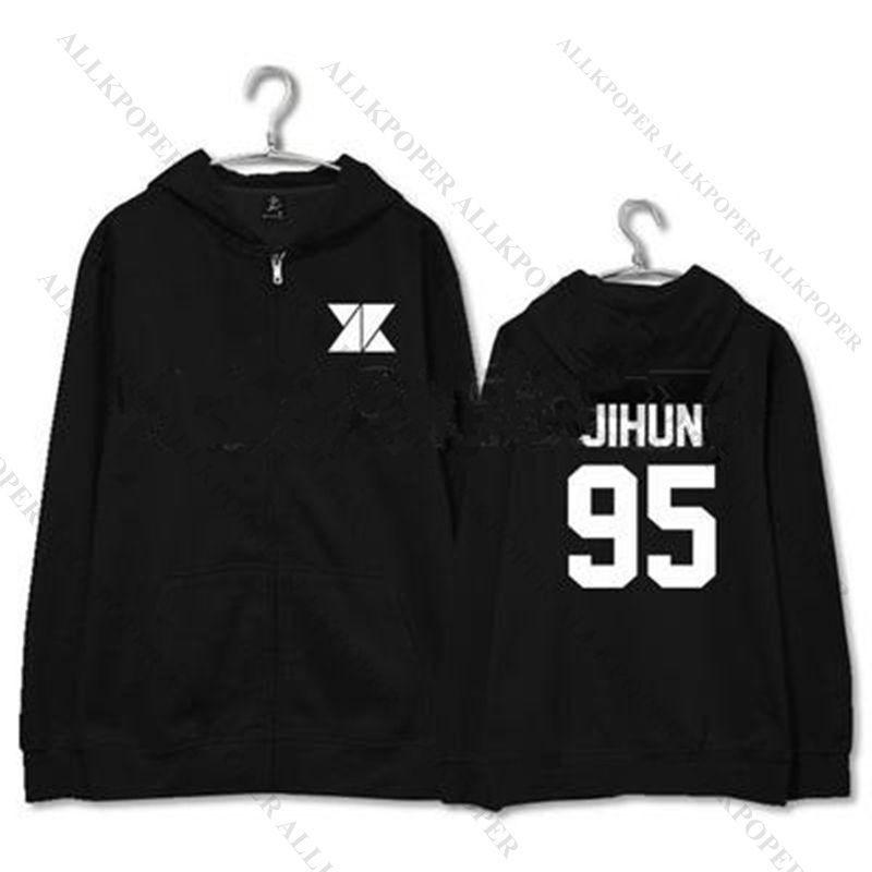 Kpop KNK Zipper Hoodie Unisex  Pullover Sweater Sweatershirt Youjin