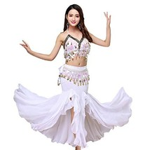 ORIDOOR Women's Belly Dance Dress Set Halloween Costume Indian Belly Dan... - $55.15