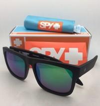 Polarized SPY OPTIC Sunglasses DISCORD Matte Black Frame w/ Bronze+Green Mirror