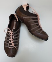 Tsubo Shoes Athletic Brown Pink Sneakers Lace-Up Womens Size US 11 / EU 41 - $1.132,91 MXN