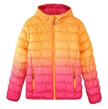 Krumba Girl's Zip Off Gradient Water Resistant Dip Dye Hooded Puffer Jac... - $60.93