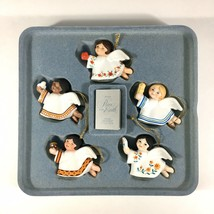 Vintage 1983 Avon Peace on Earth Angels Porcelain Ornament Collection Se... - $28.01