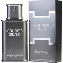 New KOUROS SILVER by Yves Saint Laurent 3.3 EDT MEN 3.4 oz YSL Sealed in Box - $49.56