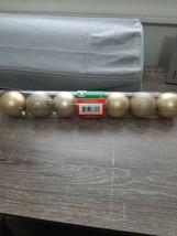 Christmas House 7 pc Gold Glitter bulbs. New - $18.69