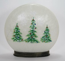 """10"""" LED Lighted Frosted Glass Globe Christmas Tree Winter Scene Holiday Decor - $34.60"""
