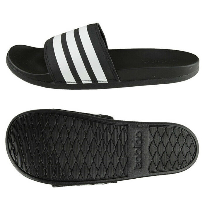 Adidas Adilette CF Plus Cloudfoam Slides Sandals Slipper Black AP9966 - $40.99