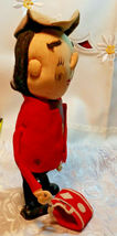 "Vintage Stockinette Doll Christmas Drummer Made in Japan by Noel 10"" image 4"