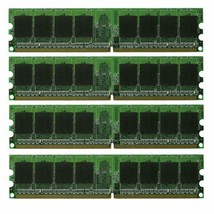 4GB 4x1GB PC2-4200 DDR2-533 NON-ECC Unbuffered 240pin DIMM Desktop Memory