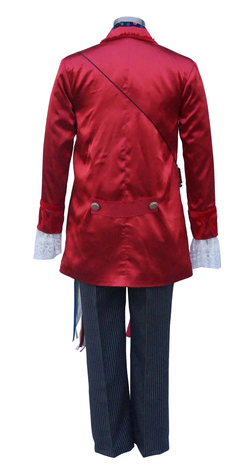 Alice in Wonderland Electric Mad Hatter Cosplay Costume Set With Hat