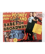 Facsimile Autographed Judy Garland and Mickey Rooney-  Babes On Broadway - $39.00