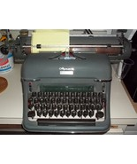 Vintage 1957 Olympia Wide Carriage Manual Typewriter, Excellent condition - $245.00