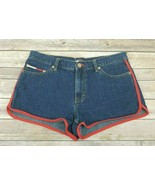 Womens Junior Authentic Tommy Hilfiger Vintage Jean Short Shorts High Ri... - $58.04