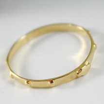 SOLID 18K YELLOW GOLD BAND ROSARY RING WITH CROSS LUMINOUS SMOOTH, MADE IN ITALY image 2