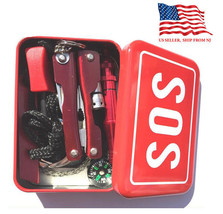 Help Camping Kit Outdoor Survival Emergency Box SOS Tools Set Hiking Spo... - $25.30