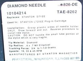 Pickering TL1 DLC GENUINE STANTON D71EE  for L720EE L727E L737E 826-DE image 2
