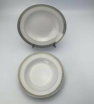 MIkasa Japan Platinum Symmetry 8 1/4 Inch Replacement Rimmed Soup Bowl Lot Of 2 - $19.79