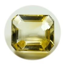 Natural Citrine Loose Gemstone Faceted 4 Carat Rectangle Cut November Bi... - $12.43