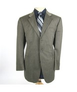 J. Ferrar Men's size 42R Brown Houndstooth Wool Blazer Sport Coat Jacket - $28.88