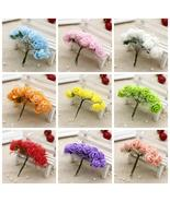 cheap 12pcs/lot 2.5CM head Multicolor PE Rose Foam Mini artificial silk ... - $0.58