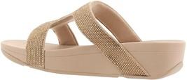 FitFlop Marli Crystal Slide Sandal GOLD 7 NEW 691-175 - $100.96