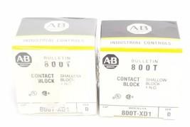 LOT OF 2 NIB ALLEN BRADLEY 800T-XD1 CONTACT BLOCKS 800TXD1, SER. D