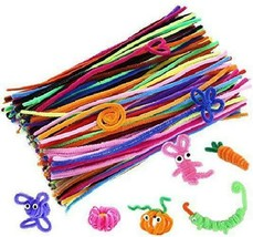 Caydo 200 Pcs Random Colors Pipe Cleaners Chenille Stem 6 Mm X 12 Inch F... - $9.36
